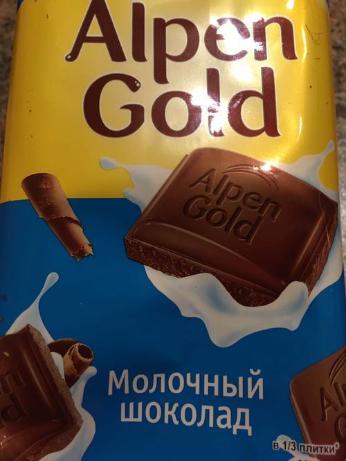 описание Шоколад Alpen Gold молочный, 90гр.