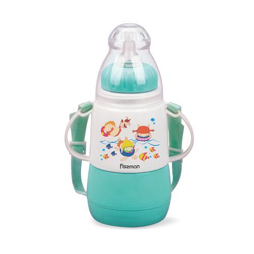 Бутылочка для кормления 150мл Ментоловая (пластик)