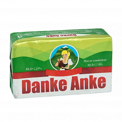 """Масло сладкосливочное несолёное """"Danke Anke"""". Массовая доля жира 82.5%"""