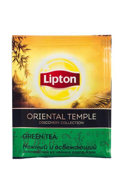 цена Чай зеленый байховый Lipton Oriental Temple