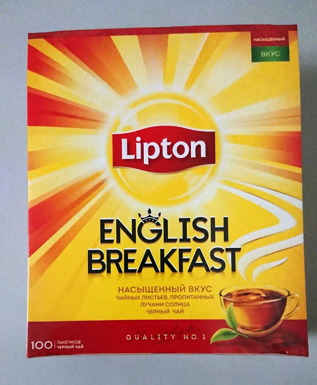 фото Чай черн байховый lipton english breakfast 12x100пакx2г