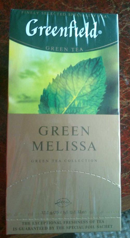 фото8 Чай зеленый байховый Гринфилд Грин Мелисса в пакетиках