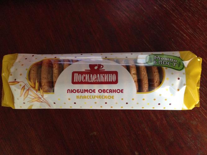 """описание Печенье """"Посиделкино"""" овсяное"""