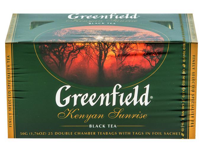 Чай черный байховый Гринфилд Кениан Санрайз в пакетиках