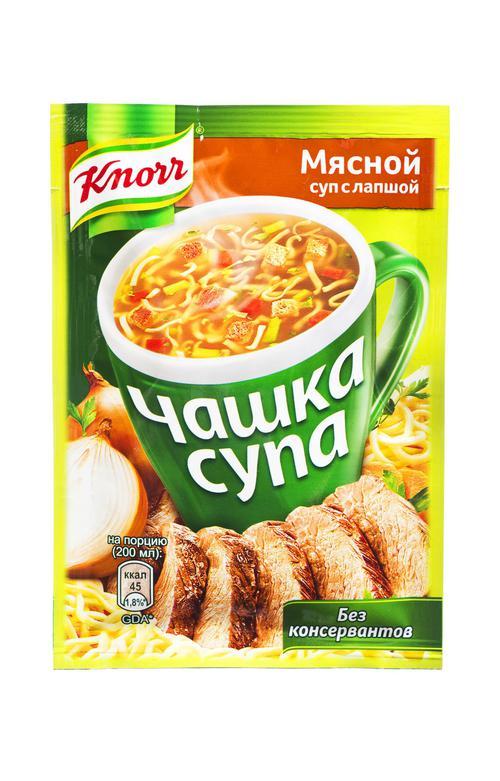 """отзыв Суп мясной с лапшой, """"Чашка супа"""" , """"Кнорр"""", 14 г"""