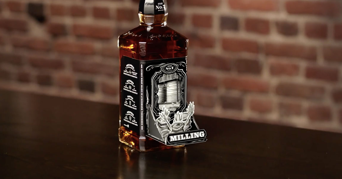 Jack Daniel's превратил этикетку своего виски впанорамную книгу спомощью AR-технологий