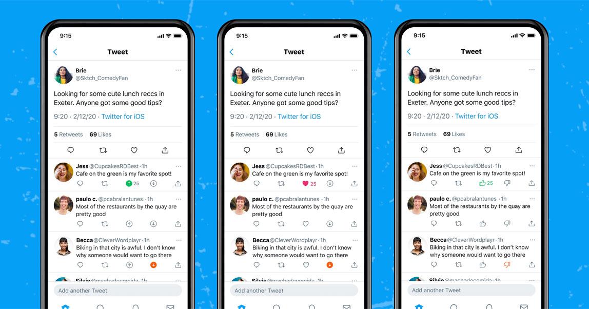 Twitter начал тестировать реакции за и против, которые можно ставить к твитам других пользователей