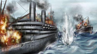 """Изображение поста """"Битва «титаников». Чем закончилось первое в истории сражение пассажирских лайнеров"""""""