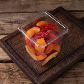 Фруктово-ягодный микс (абрикос, нектарин, клубника) ~ 250 гр.