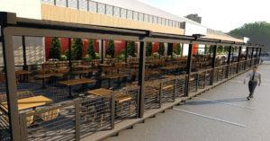 Жители Тишинки избавились от веранды еще не открывшегося фудкорта Tishinka Gastro Hall размером 9 соток