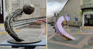 «У мячика понос?» — москвичи обсуждают проект памятника ЧМ-2018 на Никольской