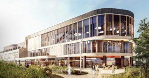 В Некрасовке появится торговый центр с плавными фасадами и панелями под дерево