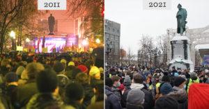 Как изменилась Москва за 10 лет после первых московских митингов (в цифрах)