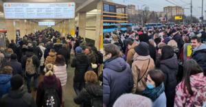 Из-за закрытия участка Калужско-Рижской линии в метро и на остановках произошел коллапс