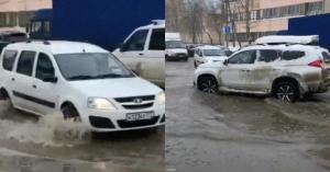 «Завтра вся Москва утонет». Огромная лужа у «Коптево» вызвала панику