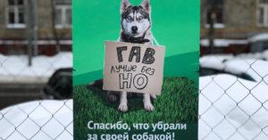 «Гав лучше без но»: в Перово развесили мотивационные плакаты для владельцев собак