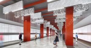 Станцию «Мичуринский проспект» Большой кольцевой линии украсят китайские орнаменты