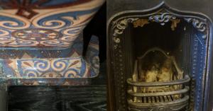 В палатах дьяка Украинцева на Хохловке нашли старинные чугунные камины и изразцовую печь