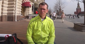 Экоактивиста Константина Фокина задержали из-за одиночного пикета на Красной площади