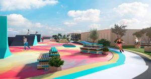 На крыше ТРЦ «Мозаика» у станции «Дубровка» хотят построить вот такой спортивный парк