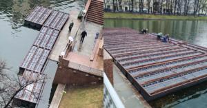 «Павильон» на Патриарших теперь захватывает и сам пруд — монтирует веранду на воде