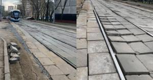В Богородском так спешили доделать трамвайные пути, что получилось это