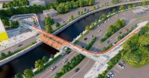 Новый мост через Яузу в Басманном будет похож на разогнутую канцелярскую скрепку