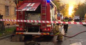 В ночном пожаре в гостинице на юго-востоке Москвы пострадали 18 человек, один погиб