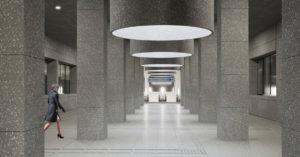 Мозаика терраццо и светильники-цилиндры: вот как будет выглядеть станция БКЛ «Кунцевская»