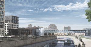 Новый стеклянный мост через Яузу соединит Рубцовскую и Семеновскую набережные