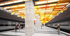 Станцию «Новаторская» с леденцовым потолком откроют до конца года