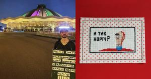 Художник устроил флешмоб против эксплуатации животных возле Цирка на Вернадского