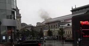 На Киевском вокзале произошел пожар, посетителей эвакуировали