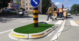 На нерегулируемых пешеходных переходах поставят вот такие мобильные островки безопасности