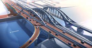 Асимметричный арочный мост у «Москва-Сити» будет готов уже в 2022 году