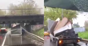 «Мосты глупости» продолжают атаковать грузовики: у «Савеловской» один остался без кузова