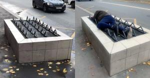 Московские бездомные протестировали решетки с системой «антибомж»