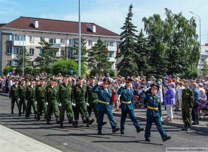 Парад в честь 75-летия Победы в Белово, 24 июня 2020 г
