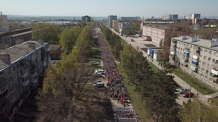 Бессмертный полк, День Победы в Белово, 9 мая 2019 г