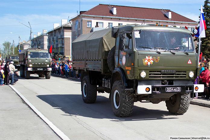 Праздничный парад, День Победы в Белово, 9 мая 2019 г