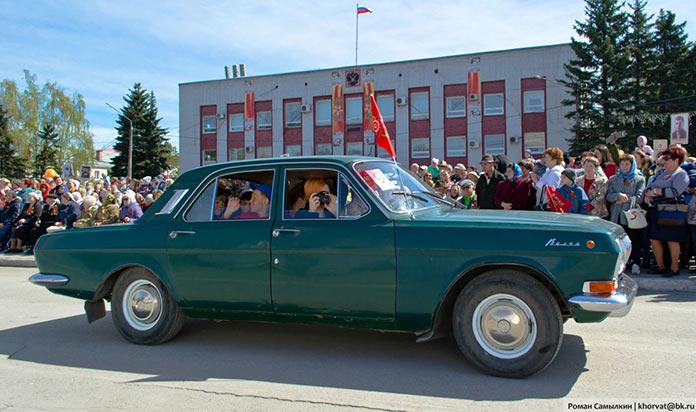 Пробег ретро-автомобилей, День Победы в Белово, 9 мая 2019 г