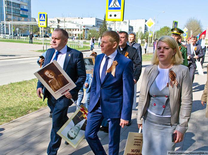 Шествие Бессмертный полк, Белово, 9 мая 2019 г