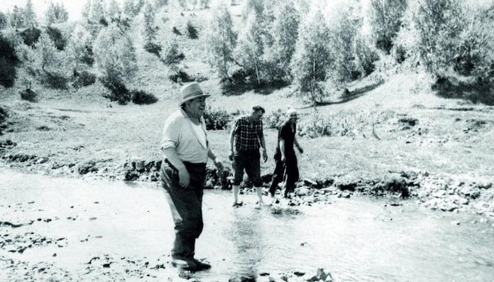 1955 год. Река Иня. Выбор изыскателями площадки под Беловскую ГРЭС