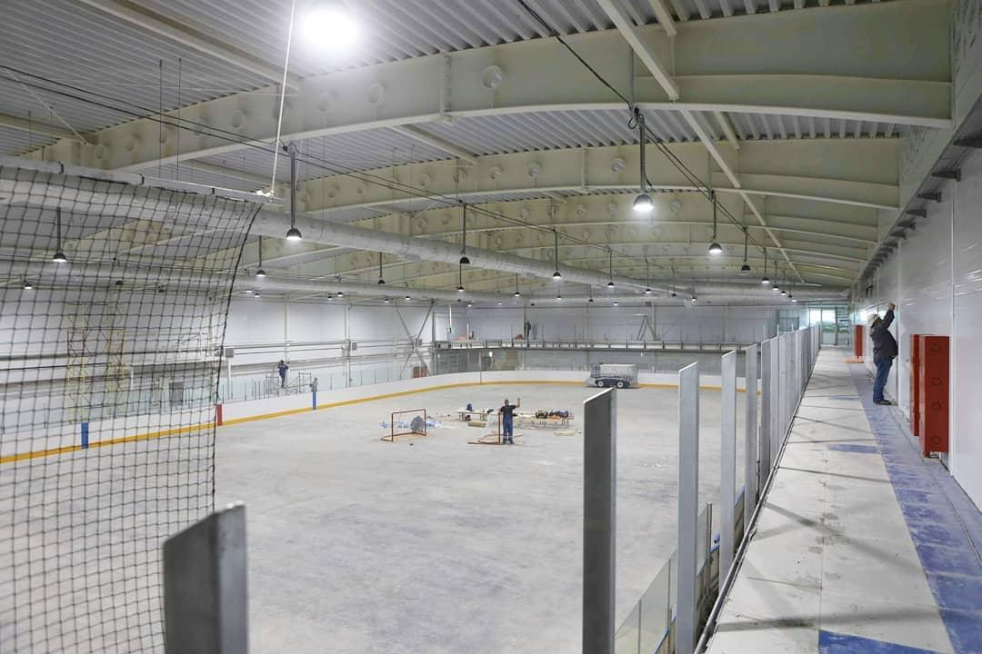 Ледовый дворец в Бачатском, завершение строительства