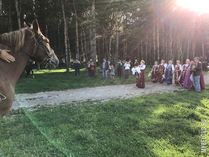 Первый Всекузбасский конный ход прибыл в Беловский район, Старобачаты, 9 сентября 2019