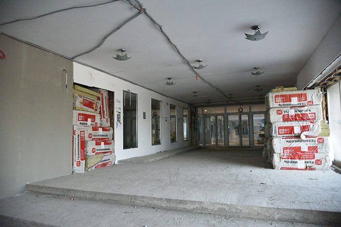 Ремонт Центрального дворца культуры в Белово, май 2020