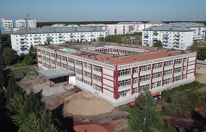 Капитальный ремонт школы №32 в Белово, май 2020