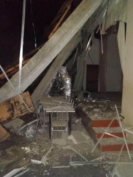 В Междуреченске обрушилась школа №2, 2 апреля 2021 г