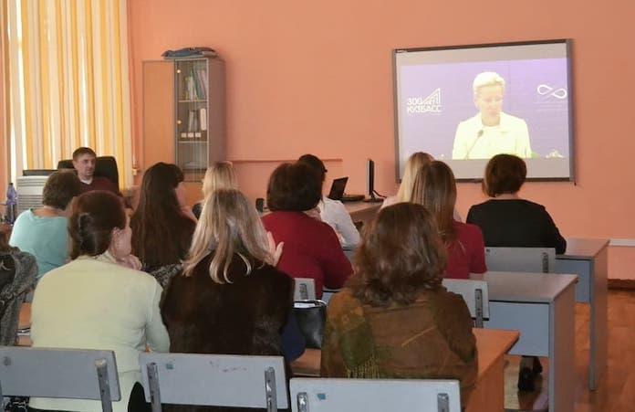 Женский форум в Кузбассе. Работа площадок в Белово. Принудительно собрали 4000 женщин