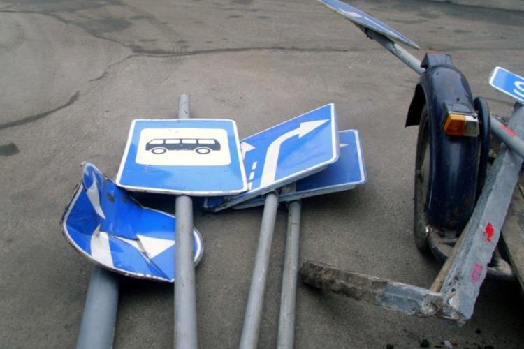 С Минской похитили четыре дорожных знака. Преступник пойман